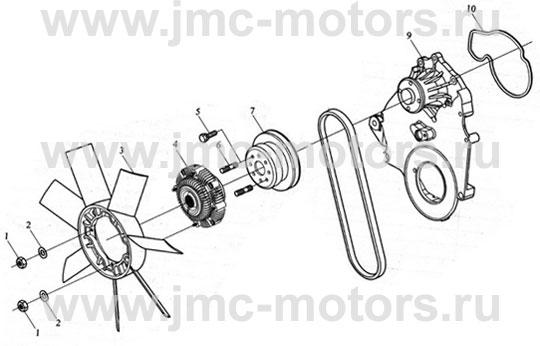 радиатора JMC на схеме